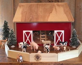 Addison - Kids Hardwood Toy Barn - zero voc