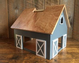 Dawson - Kids Hardwood Toy Barn with Handle - zero voc