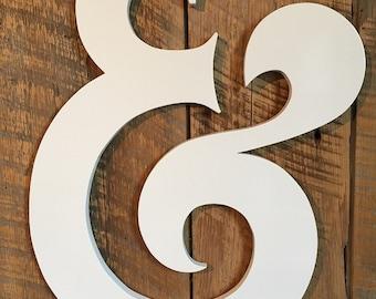 Wooden Ampersand Wedding Prop - Wall Art