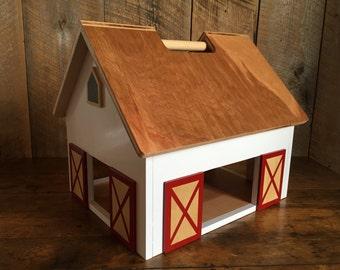 Ashley - Kids Hardwood Toy Barn with Handle - zero voc