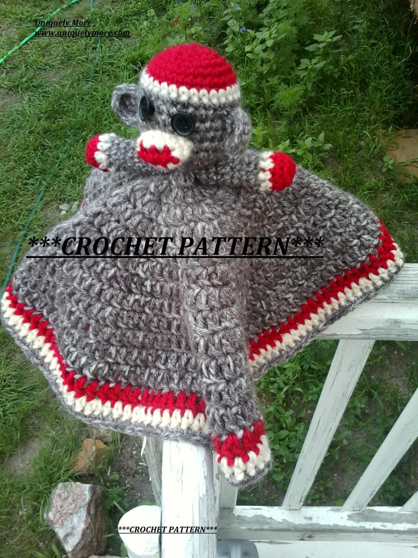 Sock Monkey Crochet Pattern Instant Download Lovey Sock Etsy