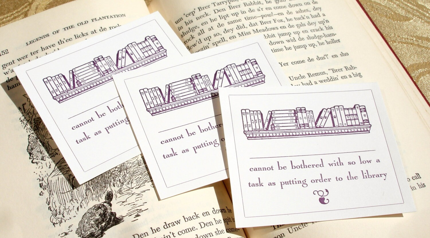 Dear Reader cannot be bothered to tidy the Library! - SNOBBY INTELLECTUAL -  Letterpress Bookplates - Set of 10