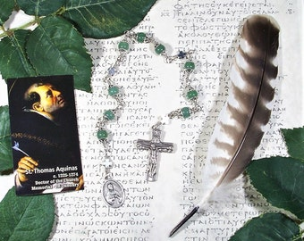 St. Thomas Aquinas Unbreakable Catholic Chaplet - Patron Saint of Universities and Students, Writers and Publishers - Catholic Rosaries
