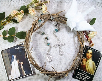 St. Teresa of Avila Unbreakable Catholic Chaplet - Patron Saint of Lace Makers, Headache Sufferers and People in Religious Orders - Rosary