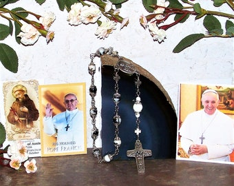 Pope Francis and St. Francis of Assisi Unbreakable One-Decade Catholic  Rosary - Patron Saint of Animals, Ecologists, Families and Peace