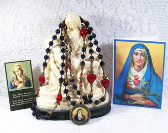 Our Lady of Seven Sorrows Chaplet from the Special Edition Handcrafted Art Chaplets & Prayer Beads Series - Catholic Rosary