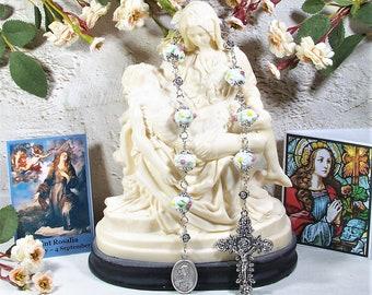 St. Rosalia Unbreakable Link Catholic Chaplet - Patron Saint of Italy and Against Plague / Pandemics - Catholic Rosary