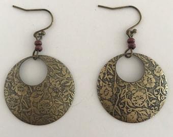 BOHO Earrings, Gypsy Earrings, 1990s, Vintage Earrings, Bohemian