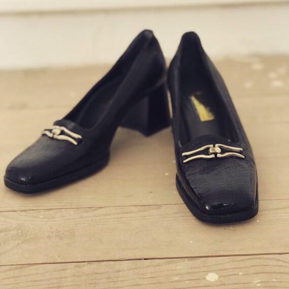 70s Leather Shoes / Vintage Shoes / Vintage Pumps