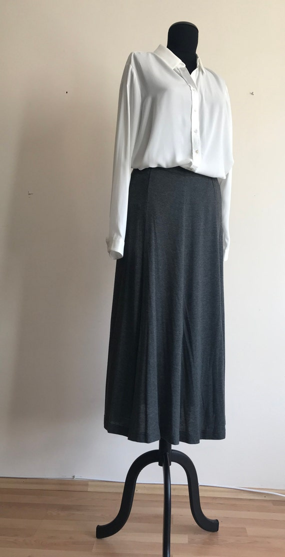 Vintage Maxi Skirt / Viscose Skirt / 80s Vintage S
