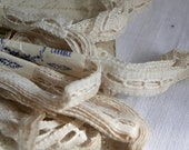 Antique Wedding Lace, Vintage Lace Trim, French Lace Insert Ballet Dolls 5 skeins Vintage Wedding Bears Furnishings