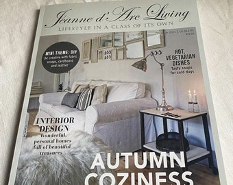 Jeanne D'Arc Living Magazine 7th Issue 2021 Autumn Coziness. BrocanteArt Style. Christmas & Floral Projects Faded Interiors Decor Recipes