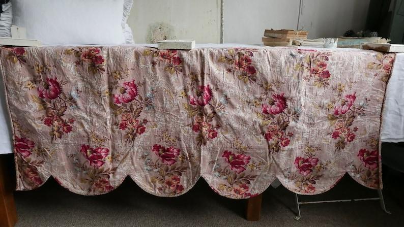 Stunning Antique Pelmet Valance Vintage French Fabric Panel image 0
