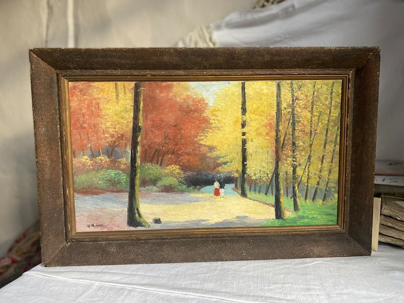 Vintage Painting 1950s Oil on canvas French Impressionism image 0