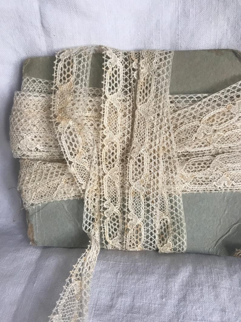 Vintage Lace Tape Cream Cotton Lace Trim French Lace Vintage Wedding /& Dolls// 3m