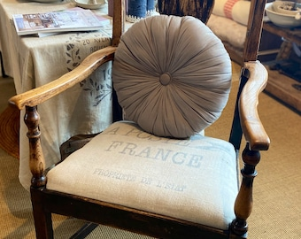Antique Chair, Windsor Armchair. Vintage Wooden Chair, Farmhouse Furniture, French Decor, Provencal Interiors / RARE