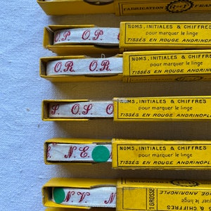 O R Monograms Tape NOS O S Furnishings 1 box O P NV or N D French Organisation Decor N E Red Letters O T Vintage Laundry Label