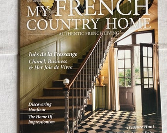 My French Country Home Magazine. Vintage Interiors Decorating. BrocanteArt Style. French Gardens & Interiors Decor Sept / Oct 2021