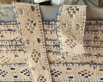 Vintage Lace Trim, Cream Cotton Tape, Furnishings Edging Vintage Home Decor Supplies. Period Costume French Decor/ Dolls