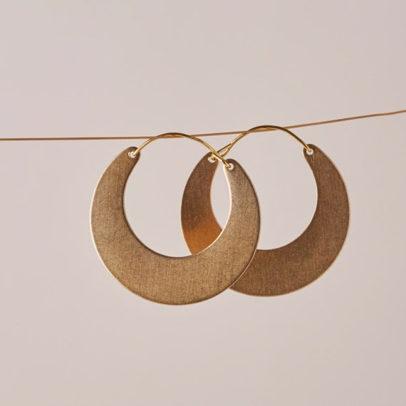 After the Beach \u00a9 Precious mosaic half-moon earrings and gold-plated 750000 Christmas Jewelry