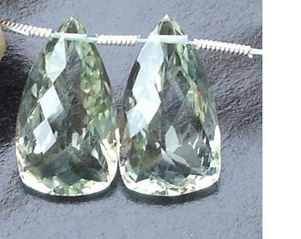 5 Matched pair,Super-Finest AAA Quality Quartz Micro Faceted Elongated Drops Shape Briolettes,20mm Long