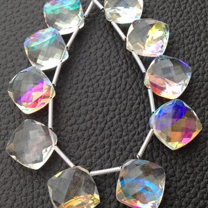 Gorgeous Multi Fire Rainbow Moonstone Quartz Faceted Fancy Shape Briolettes,Good Making Stone,Jewelry Making,Size 20x10mm,8 Inches Strand