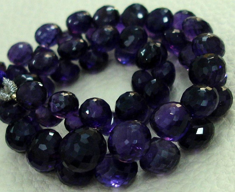 8 Inch strands,SUPER-FINEST-AAA Quality African Amethyst Micro Faceted 6-7mm Onions Shape Briolettes,Super Fine Quality,Wholesale Price