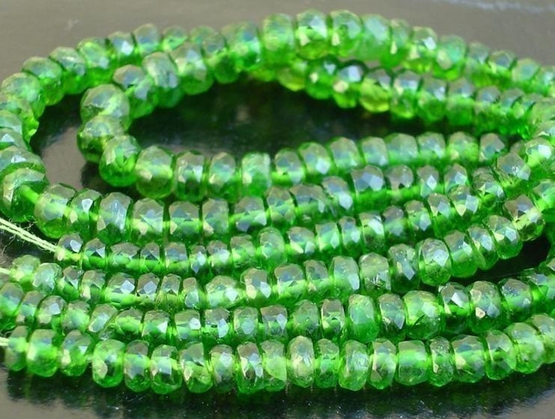 4-4.5mm Best Price 16 inches Long Strand 16 Inch,Very-Very,Finest Quality,Gorgeous Item AAA CHROME DIOPSIDE Micro Faceted Rondells
