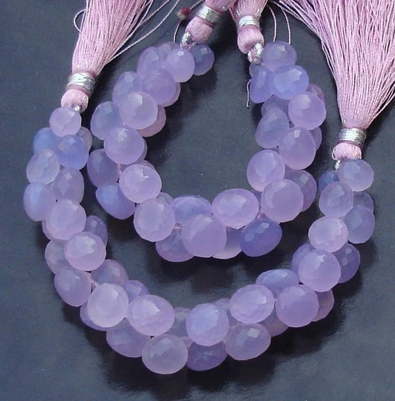 12 Strand 7-9mm Long size,GORGEOUS. NEW Colour SWISS Blue Chalcedony Micro Faceted Onions Briolettes