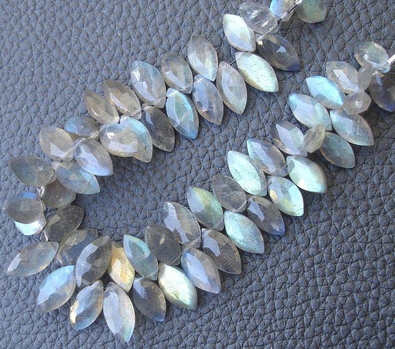 6 Inch Long Strand,Very-Very,Finest Blue Flashy Labradorite Faceted MARQUISE Shaped Briolettes 10-12mm Long size,Promotional Price