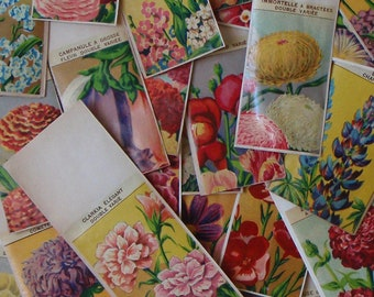 28 Different antique vintage French FLOWER SEED PACKETS