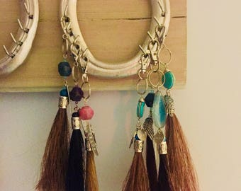 Horse hair key chains made from your horse's hair