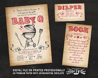 baby q shower invite etsy