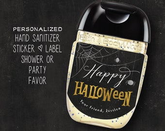 Ghost Baby Shower Hand Sanitizer Labels Halloween Baby Shower Hand Sanitizer Labels LABELS ONLY Peek A Boo Baby Shower Party Favor Labels