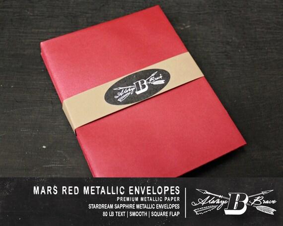 25 red metallic a6 envelopes invitation envelope 4 75 x etsy
