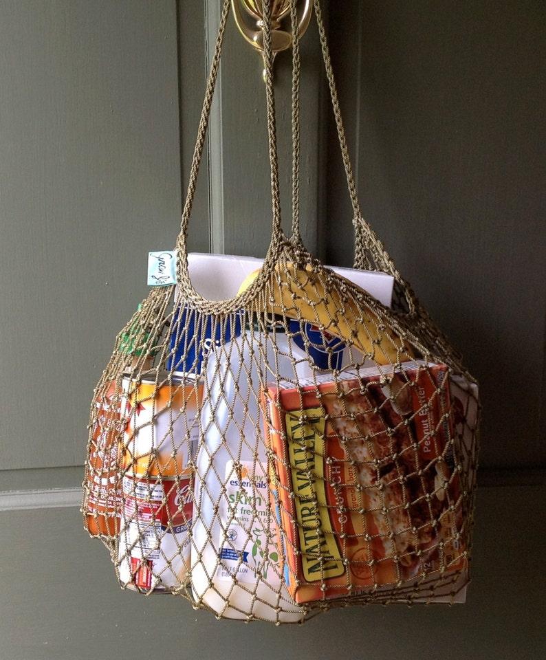 Green Fishnet  Shopping Bag