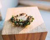 Chunky forest green bracelet