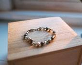 Neutral Gem Stone Bracelet