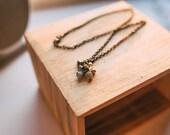 Labradorite, Aquamarine and Pyrite Cluster Necklace