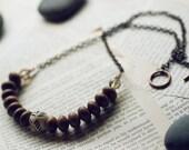 Tribal necklace - wood & bone (Sale)
