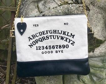 MADE TO ORDER, Spirit Board Bag, Ouija Board Bag, Occult Bag, Leather Crossbody Bag