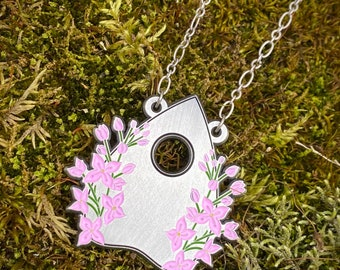 The Ordinary Period of Mourning Necklace, Lilac, Planchette, Mourning