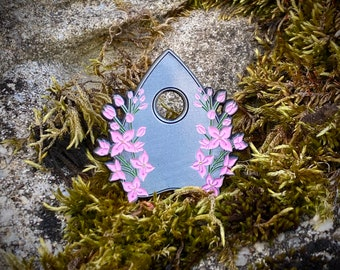Lilac Planchette Pin, Lilac Flowers, Planchette, Mourning