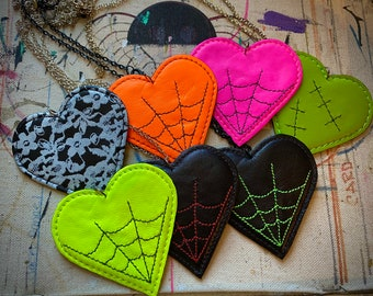Leather Hearts Necklace