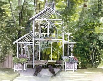 Original Watercolour Painting - Bear Creek Chapel