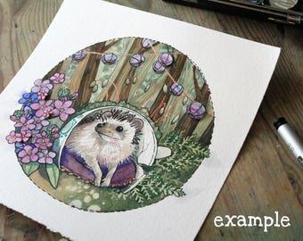 Custom Watercolor Pet Illustration