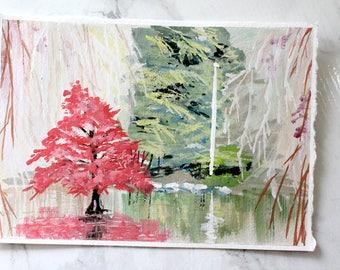Original Acryla Gouache Painting  - Minoru