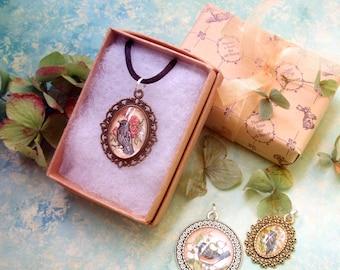 Original Art Pendant Necklace - Botanical Series