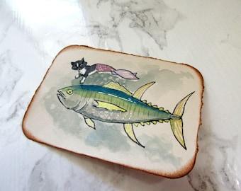 ACEO Original watercolour Art - Tuna