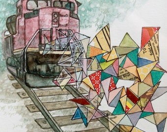 Original Watercolour Painting - Obsession